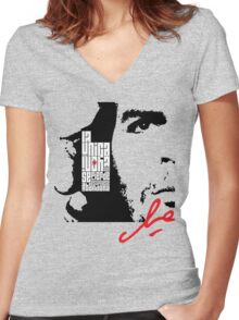 El Che Guevara Women's Fitted V-Neck T-Shirt