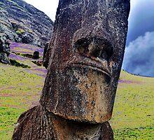 Moai at Rano Raraku by freakjdg