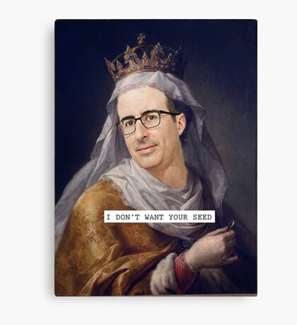 John Oliver - Saintly Celeb Canvas Print