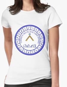 Stargate: Blue Dialing Ring Womens Fitted T-Shirt