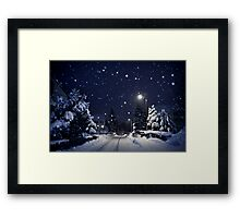 blue silent night Framed Print