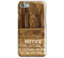 Laying Down the Law - Sepia Tinted iPhone Case/Skin