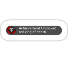 Achievement unlocked - red ring of death Sticker