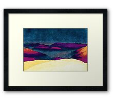 Colorful Mountains Landscape Framed Print