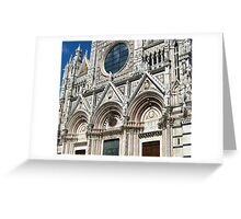The West Facade Of Siena Cathedral Greeting Card
