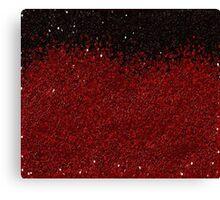 RED GLITTER Canvas Print