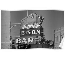 Miles City, Montana - Bison Bar Poster