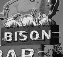 Miles City, Montana - Bison Bar Sticker