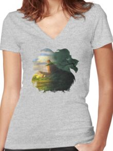 The Lion Kings Women's Fitted V-Neck T-Shirt