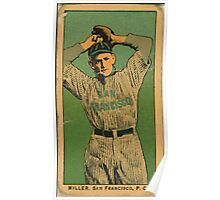 Benjamin K Edwards Collection Miller San Francisco Team baseball card portrait Poster