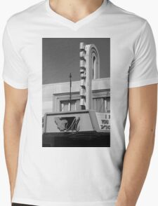 Miles City, Montana - Theater Marquee Mens V-Neck T-Shirt