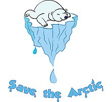 Save the Arctic bear Photographic Print