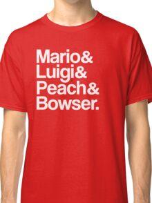 Mario & Luigi & Peach & Bowser - White Classic T-Shirt