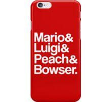 Mario & Luigi & Peach & Bowser - White iPhone Case/Skin