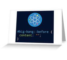 CSS Pun - Big Bang Greeting Card