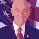 Ron Paul Red White & Blue by HighDesign