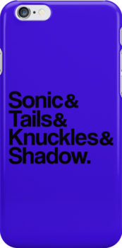 Sonic & Tails & Knuckles & Shadow - Black by ScottW93
