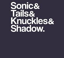 Sonic & Tails & Knuckles & Shadow - White T-Shirt
