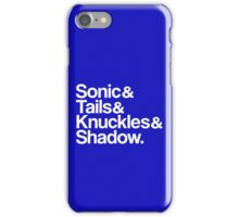 Sonic & Tails & Knuckles & Shadow - White iPhone Case/Skin