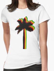 rasta palms Womens Fitted T-Shirt
