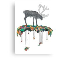 Reindeer colors Canvas Print