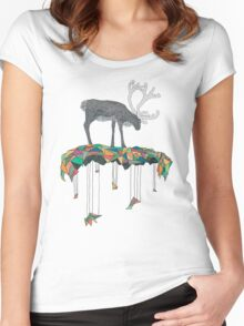Reindeer colors Women's Fitted Scoop T-Shirt