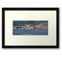 Aurora Australia - sail pass Hobart Tasmania  Framed Print