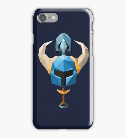 Low-Poly Shovel Knight iPhone Case/Skin