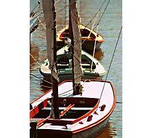 Vintage Sail Boats Photographic Print