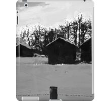 Little Shacks In The Winter - Digital Oil iPad Case/Skin