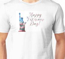 Happy Veterans Day (liberty bokeh) Unisex T-Shirt