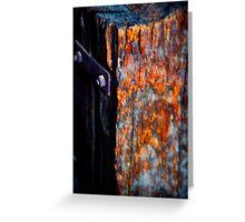 Artistic Wood and Metal Greeting Card