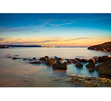 Rocks in a row at Anadolufeneri Bay Photographic Print