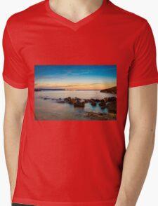 Rocks in a row at Anadolufeneri Bay Mens V-Neck T-Shirt