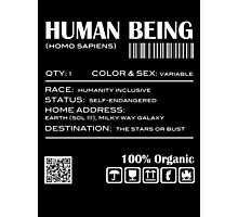 Human Being Shipping Label Photographic Print