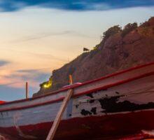 A rowboat at Anadolufeneri Bay Sticker