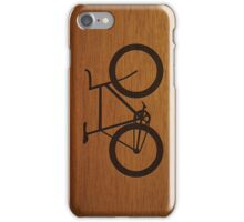 Bike ~ Wood Silhouette iPhone Case/Skin