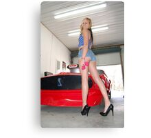 Amber in the shop Canvas Print