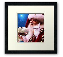 Rudolph, Santa's Red Nosed Pitbull Framed Print