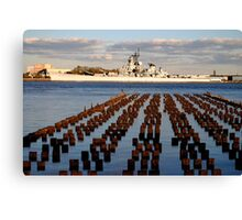 Battleship New Jersey Canvas Print