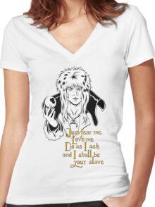 Jareth, The Goblin King Women's Fitted V-Neck T-Shirt