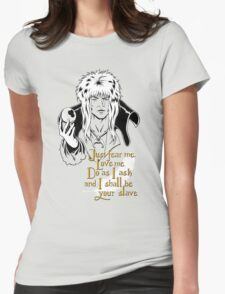 Jareth, The Goblin King Womens Fitted T-Shirt