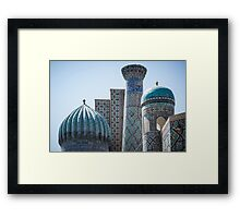 Architecture of Uzbekistan Framed Print