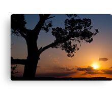 Late November Sunset at 360 Bridge Canvas Print