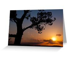 Late November Sunset at 360 Bridge Greeting Card