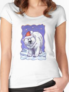 Polar Bear Christmas Women's Fitted Scoop T-Shirt