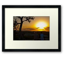 Love and Happiness within a Sunset Framed Print