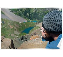 His Best View Ever of Blue Lakes Poster