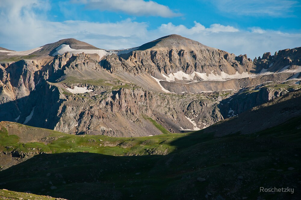 Looking Across Yankee Boy Basin by Roschetzky