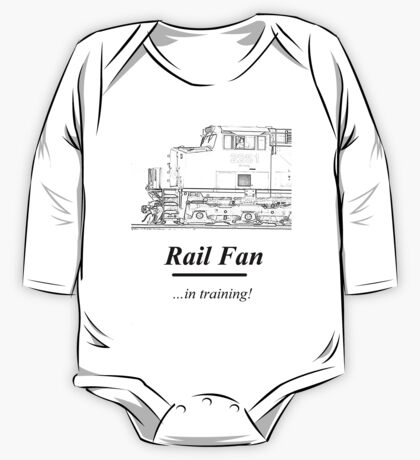 Rail Fan In Training Kids Clothes One Piece - Long Sleeve